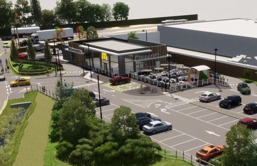 McDonald's restaurant approval Ffordd Derwen, Rhyl